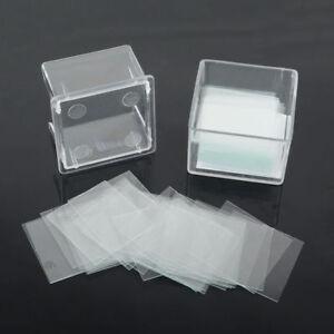 100-stk-Deckglaeser-Mikroskopie-Mikroskop-Deckglas-22-22mm-Fuer-Objekttraeger-Labor