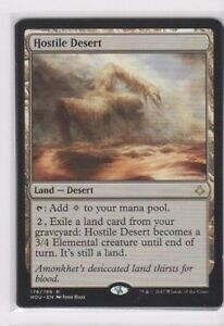 Hour of Devastation ~ HOSTILE DESERT rare Magic the Gathering card