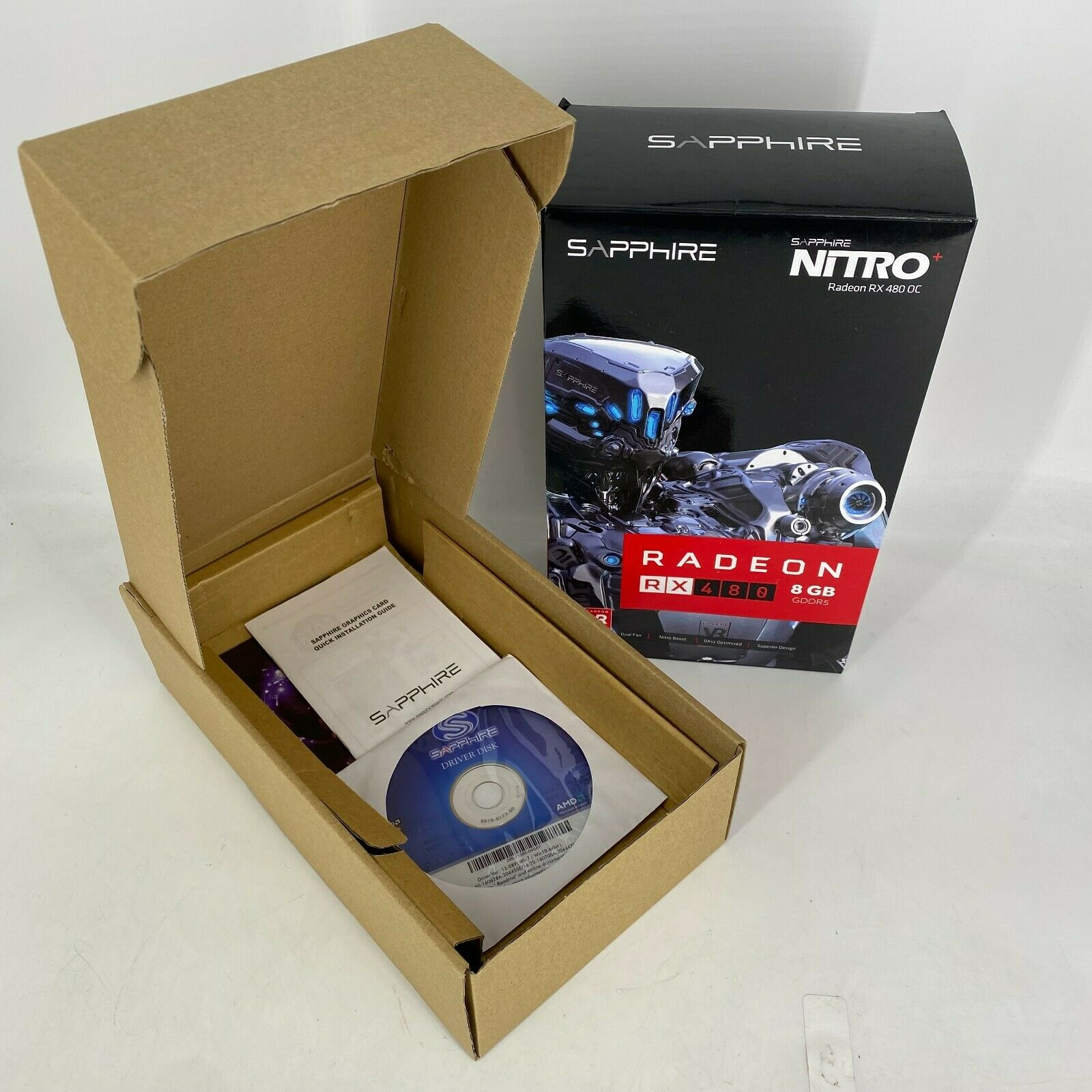 *EMPTY BOX* for - Sapphire NITRO+ OC RX 480 RX480 8Gb Radeon 8 Gb * NO GPU*