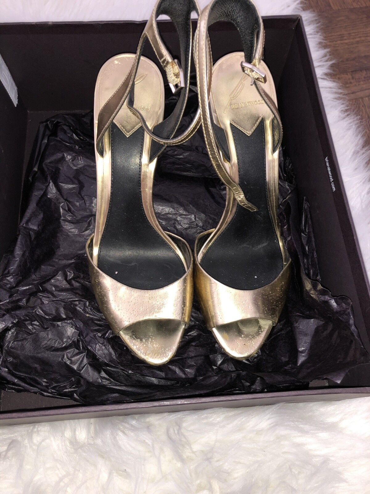 Brian Atwood Femme Fatale  oro Strappy Platform Sandals Dimensione 6.5  fino al 42% di sconto