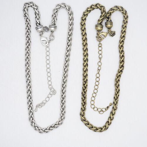 Premier designs jewelry antique silver gold tone necklace chain for women unique