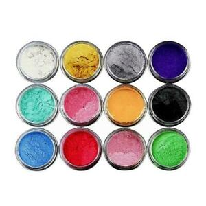12-Color-Set-Mica-Pigment-Powder-Perfect-For-Dye-Resin-Color-Soap-N6Z5