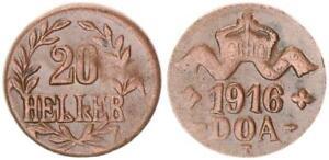 Colonies German East Africa 20 Heller J.724 C Bronze Very Schön-vorzüglich