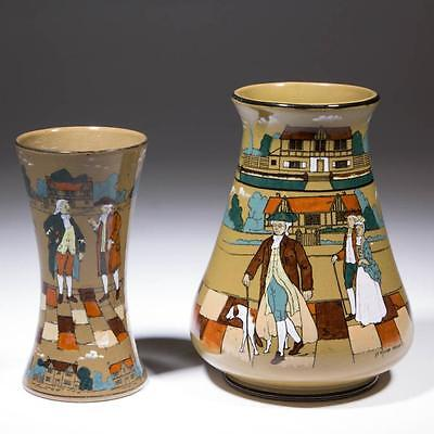 3. BUFFALO POTTERY DELDARE VASES, LOT OF TWO Lot 3