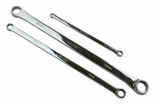Aviation Double Ended Ring Extra Long Spanner 7pc Set 8mm to 19mm US Pro 3222