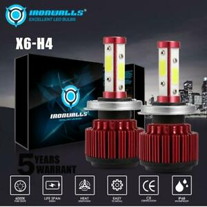 H4-9003-LED-Headlight-Kit-Conversion-Globes-Bulb-Hi-Lo-Beam-6500K-160W-19200LM