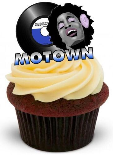 Nouveauté motown design stand up//givrage comestibles gâteau toppers records 60s 70s soul