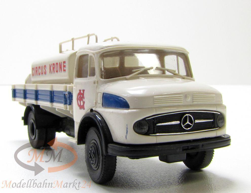 BREKINA MB L LA 322 Circus Krone LKW Pritsche mit Tankbehälter Scale 1 87  | Qualitativ Hochwertiges Produkt