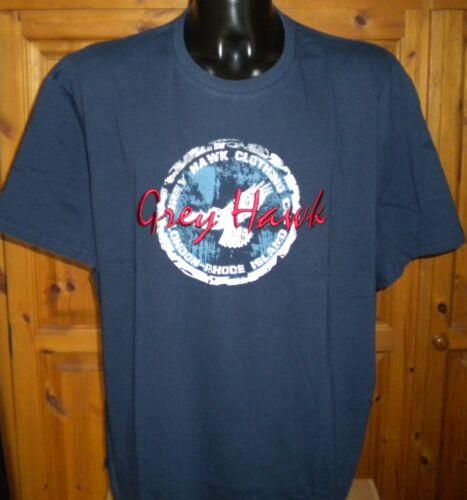 ** Nouveauté ** homme grande taille greyhawk navy london-Rhode Island t shirt 3XL 4XL 5XL