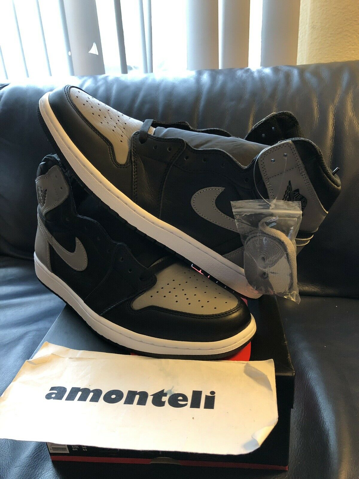 BRAND NEW JORDAN 1 RETRO HIGH OG - SHADOW - SIZE 12