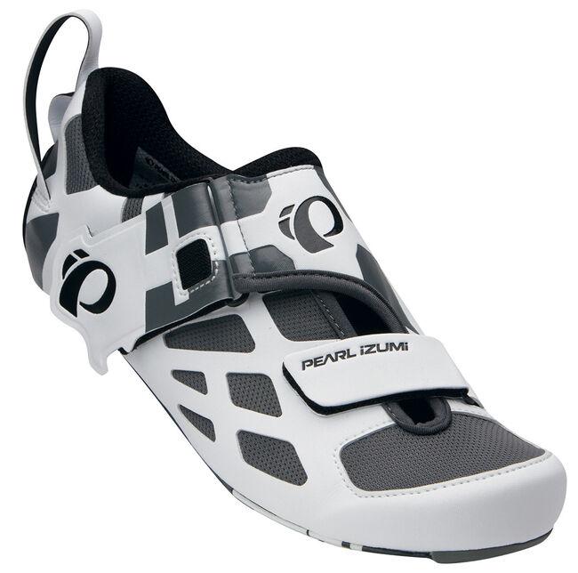 Pearl Izumi Tri Fly V De Carbono Triatlón Zapatos De Ciclismo blancooo Negro - 40