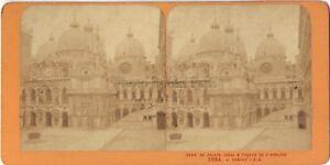 Venezia-Palais-Ducale-Italia-Stereo-Jean-Andrieu-Parigi-Albumina-Ca-1870
