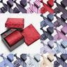 New Hot Mens 100% Silk Ties Classic Tie Hanky Cufflinks Set Necktie Gift Box