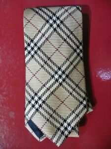 TRES-BELLE-CRAVATE-BURBERRY-039-S-SOIE-MOTIF-BURBERRY-039-S-NEUVE-NEW-SILK-TIE