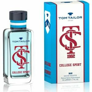 Details about Tom Tailor College Sport Edt Eau de Toilette Spray for Men 50ml 1.7fl.oz