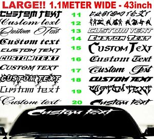 custom-sticker-decal-car-sign-window-full-windscreen-LARGE-BIG-1100mm-banner
