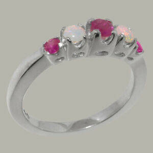 Sizes J to Z 925 Sterling Silver Natural Ruby Womens Band Ring