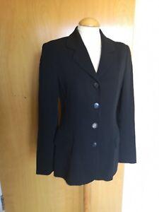 Ladies-JIGSAW-Jacket-Size-10-Fitted-Blazer-Smart-Office-Work-Black