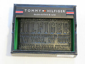 Tommy-Hilfiger-Men-039-s-Double-Billfold-amp-Valet-wallet-black-31HP130006-leather-TH