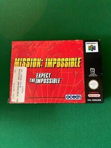 MISSION IMPOSSIBLE NINTENDO 64. N64. PAL. boite complète