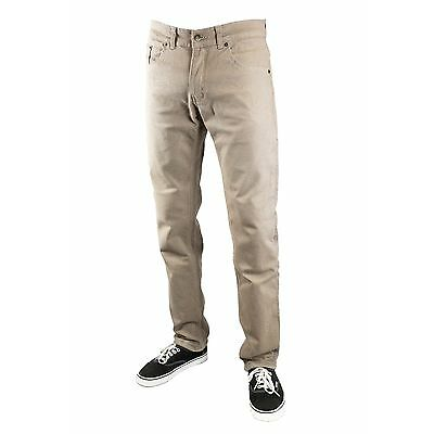 MENS PUBLIC ENEMY®  SLIM FIT MOTORCYCLE RIDING CHIN0 JEANS - TAN