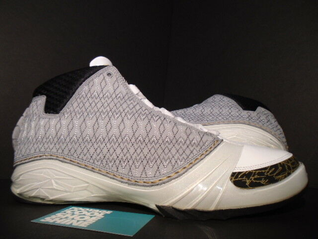 2008 Nike Air Jordan XX3 23 XXIII WHITE STEALTH GREY BLACK GOLD 318376-102 DS 13