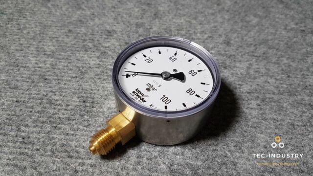 Krom Schröder KFM 100 B 63 Kapselfeder-Manometer 0/100 mbar