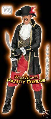 FANCY DRESS COSTUME = DELUXE BUCCANEER PIRATE