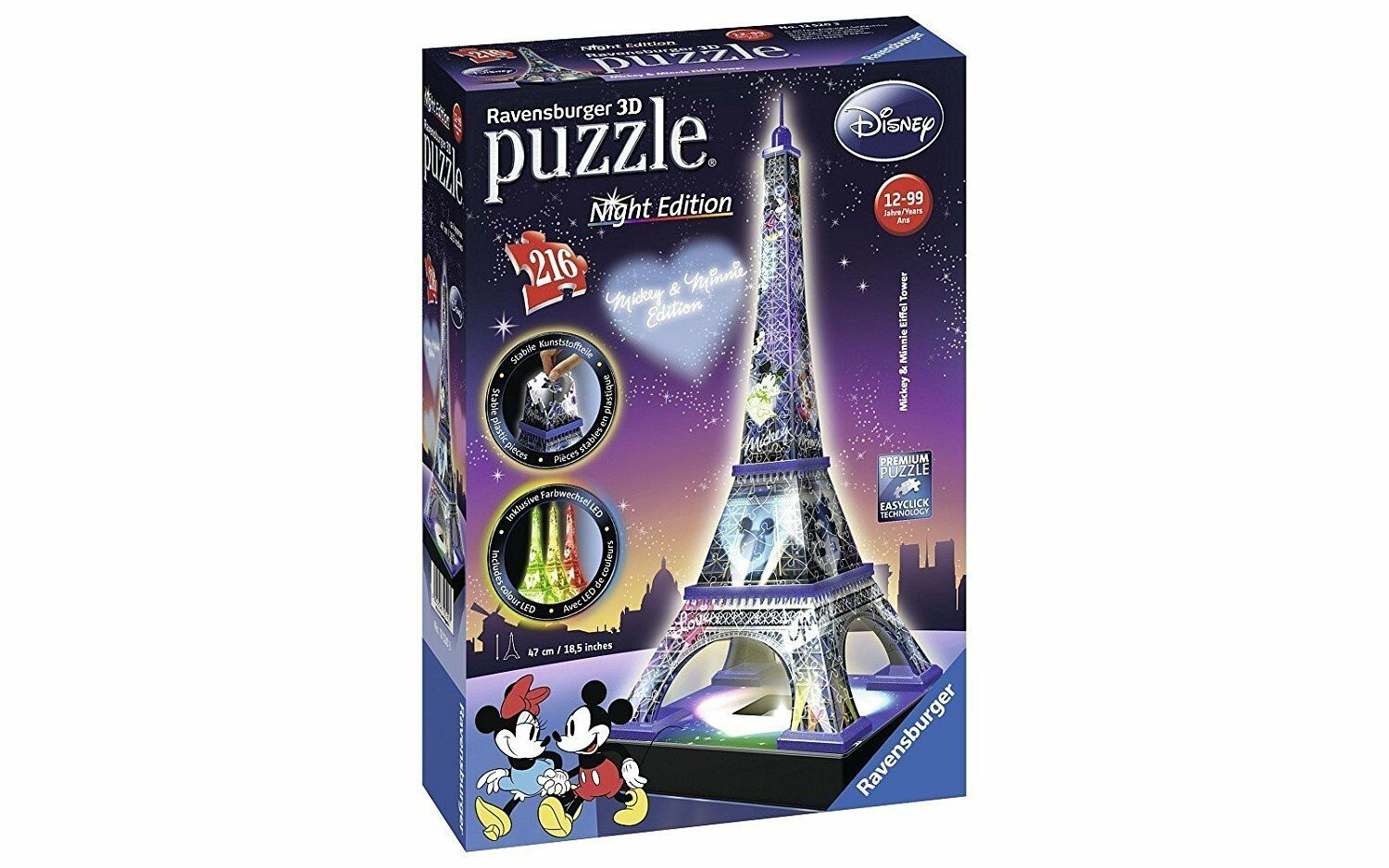 PUZZLE 3D NIGHT EDITION TORRE EIFFEL 125203