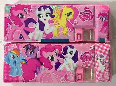 Free shipping My Little Pony stationery plastic children pencil case