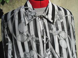 lunghe Camicetta Tennis Up Button Xl Sheer Womans Maniche Won Racchette Theme Moa agZ6z