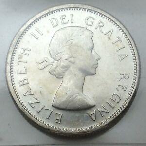 1964-Canada-25-Twenty-Five-Cents-Quarter-Canadian-Graded-ICCS-XNI-258-Coin-D074
