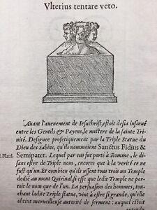 Dieu-des-Sabins-Italie-1557-Rome-Guillaume-de-Hainaut-Hollande-Rare-Gravure