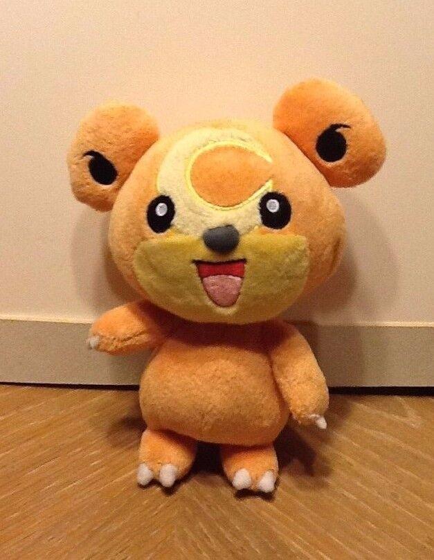 Pokemon Plush Teddiursa Jakks 2010 Doll Figure Stuffed Animal Toy Bear Moon