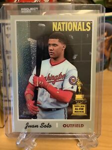 JUAN SOTO 2019 TOPPS HERITAGE CHROME #THC-481 #d /999 Rookie Gold Cup Nationals