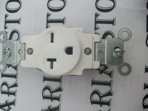 Leviton 5801-I 20A-250V Narrow Body Grounding Single Side Wire Receptacle