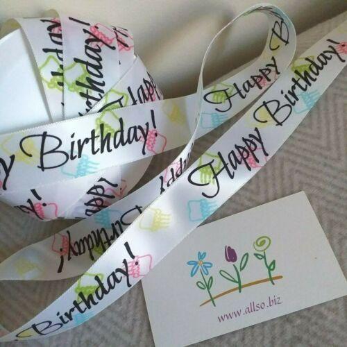 VARIOUS STYLES /& WIDTHS Beautiful Quality HAPPY BIRTHDAY CAKE Ribbon