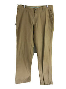 Columbia-Outdoor-Pants-Mens-36-x-32-Brown-Flat-Front-Casual-100-Cotton-Hiking