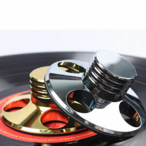 LP-Vinyl-Turntable-Disc-Stabilizer-Record-Weight-Gold-Silver-HiFi-Metal-Audio