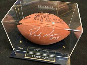 Randy-Moss-HOF-Signed-Official-NFL-Tagliabue-Autograph-Football-w-COA-amp-CASE