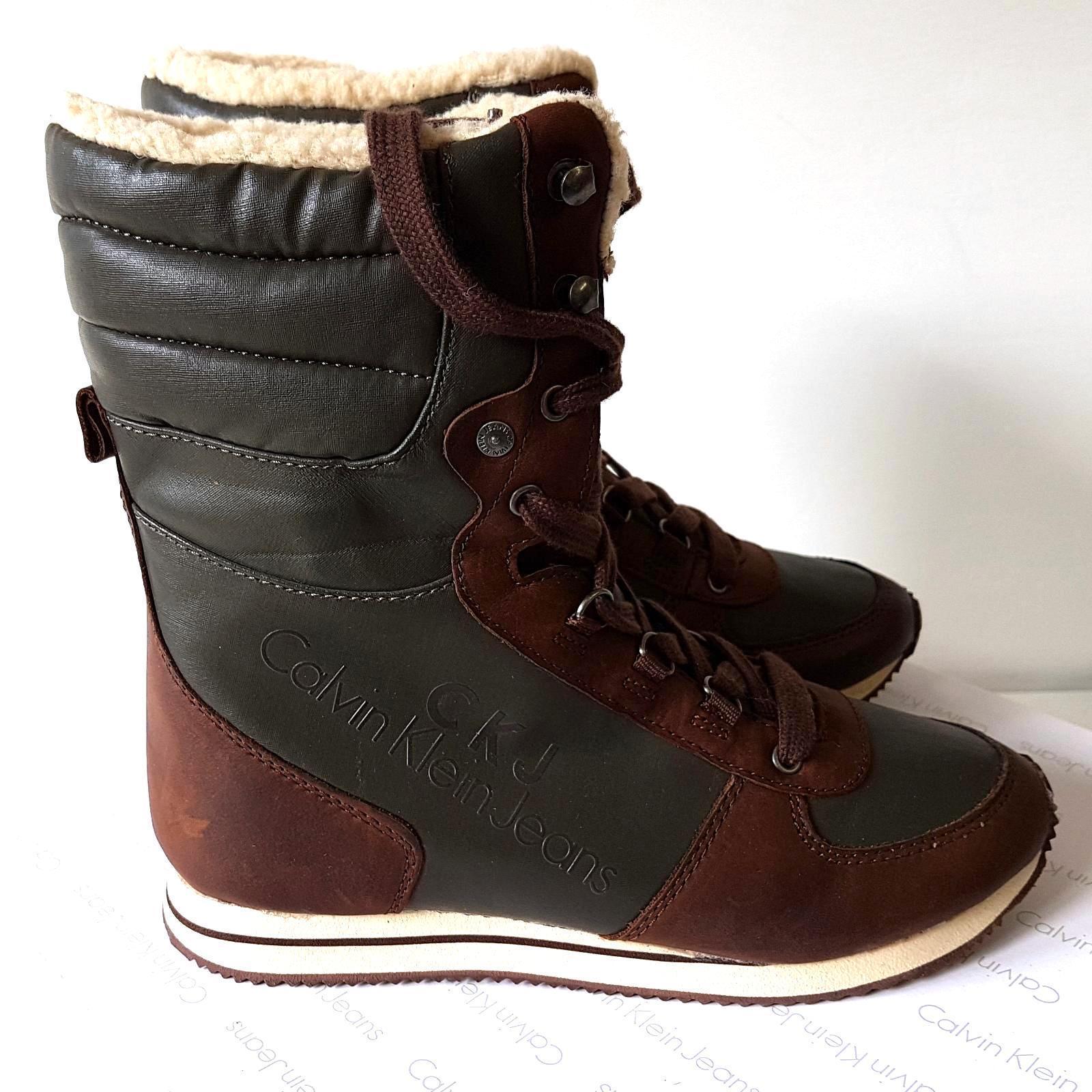 Zapatos especiales con descuento CALVIN KLEIN Jeans Stivaletto Donna tg EU 40 scarponcino Waterproof Sconto 50%