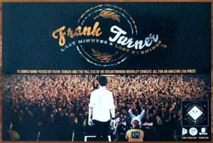 FRANK-TURNER-Last-Minutes-Lost-Ltd-Ed-Discontinued-RARE-Poster-FREE-Punk-Poster