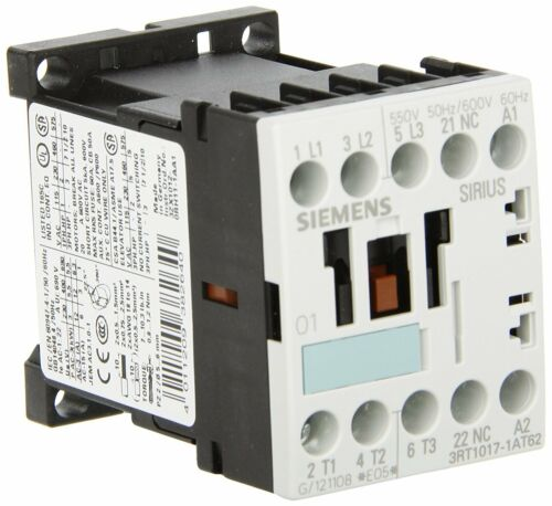 Siemens 3RT10 171AT62 Motor Contactor 3 Poles Screw Terminals