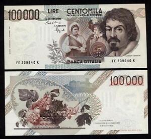 100.000 Livres Caravaggio 1° Modèle Lettre E Fds Ass Wbgbhs04-08003542-514965672
