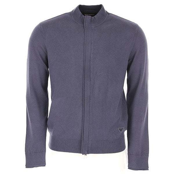 Emporio Armani Zip Up Knitwear grau 6Z1MYL 1MPQZ