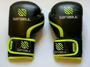 Sanabul Ess Gel Boxing Kickboxing Punching Bag Gloves 10 Oz Black Yellow Ebay