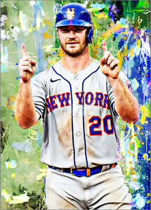 2021-Pete-Alonso-New-York-Mets-Baseball-3-25-Art-ACEO-Green-Print-Card-By-Q