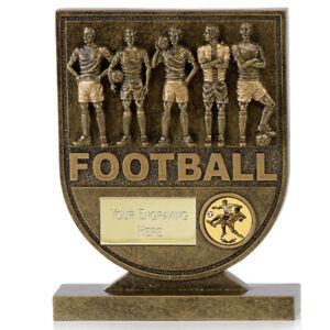 A1748b Résine Football Trophy Taille 13.5 Cm Gravure Gratuite-afficher Le Titre D'origine