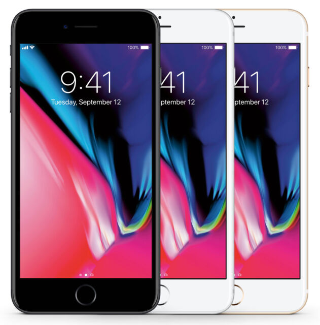 APPLE IPHONE 8 PLUS 64GB, 256GB SPACEGRAU, GOLD, SILBER, ROT - WIE NEU