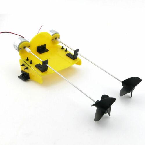 Elektrisch Modell Bausatz Propeller Boot Schiff Zwilling Fernbedienung Hobby